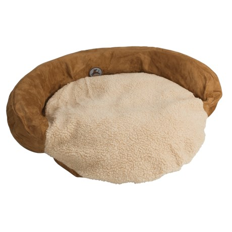 "OllyDog Round Dog Bed with Bolster - 40"", Recycled Materials"