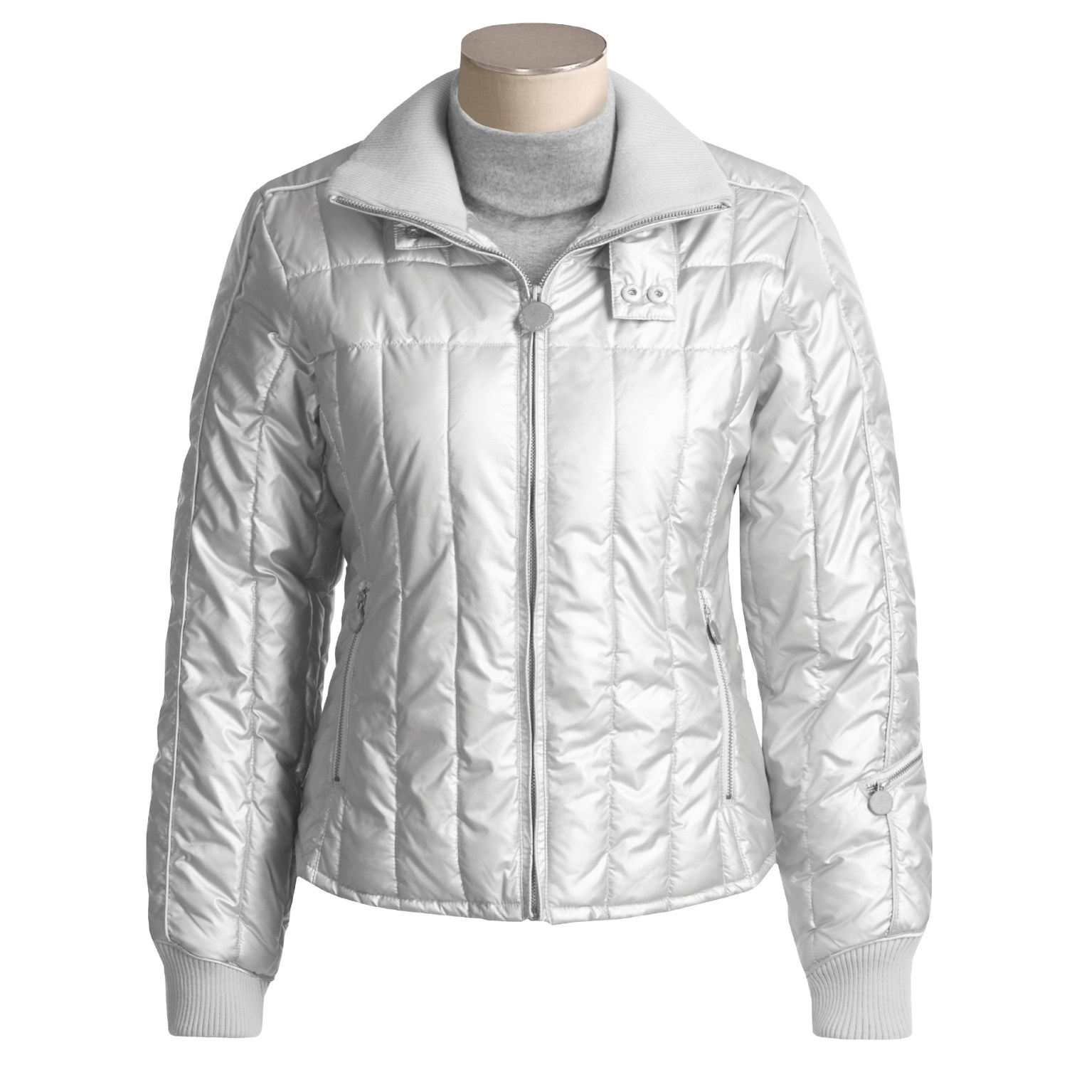 Steve Madden Silver Bubble Jacket (For Women). Click to expand