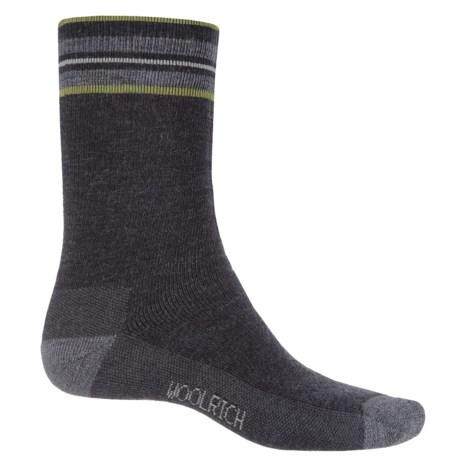 Woolrich Heritage Tipped Stripe Socks - Merino Wool, Crew (For Men)