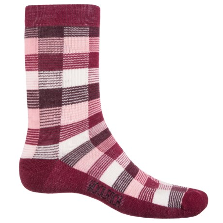 Woolrich Buffalo Check Socks - Merino Wool, Crew (For Women)