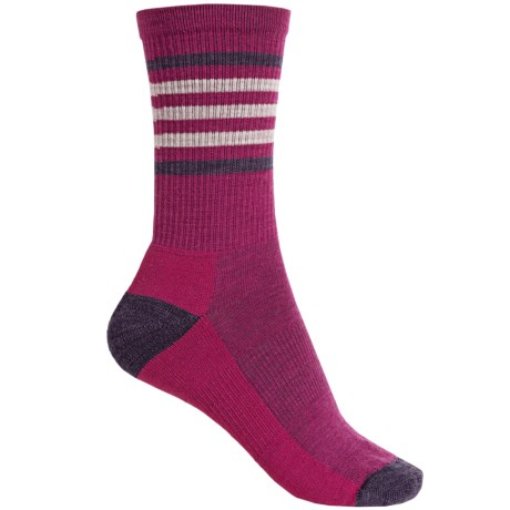 SmartWool Hike Light Stripe Socks - Merino Wool, Crew (For Women)