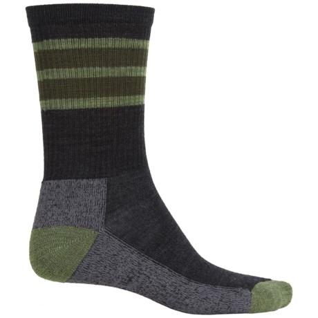 SmartWool Striped Light Hike Socks - Merino Wool, Crew (For Men and Women)