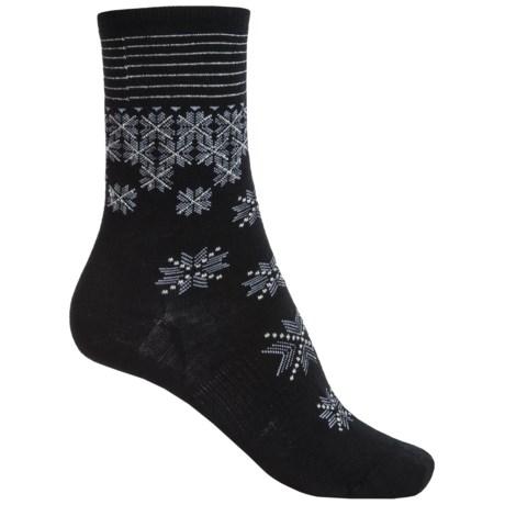 SmartWool Shimmering Snow Socks - Merino Wool, Quarter Crew (For Women)