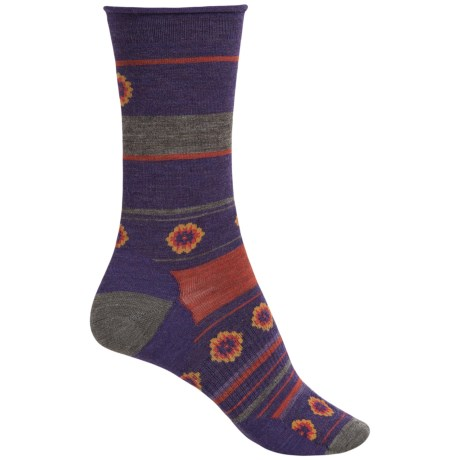SmartWool Dazed Dandelion Socks - Merino Wool, Crew (For Women)