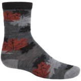 SmartWool Charley Harper Glacial Bay Camo Leaf Socks - Merino Wool, Crew (For Big Kids)