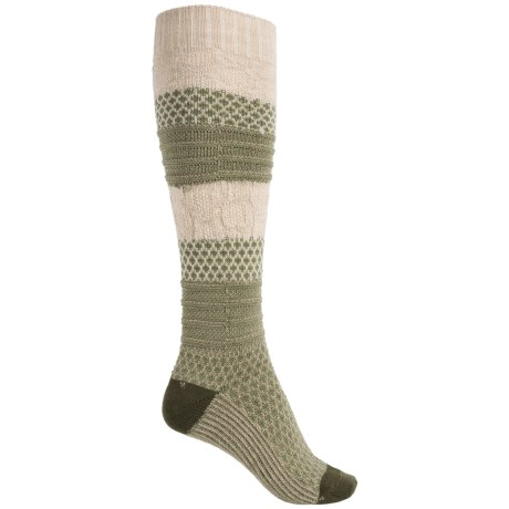 SmartWool Popcorn Cable Knee-High Socks - Merino Wool, Over the Calf (For Women)