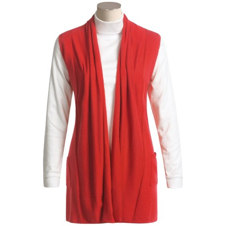 Fever Open-Front Sweater - Sleeveless (For Women)