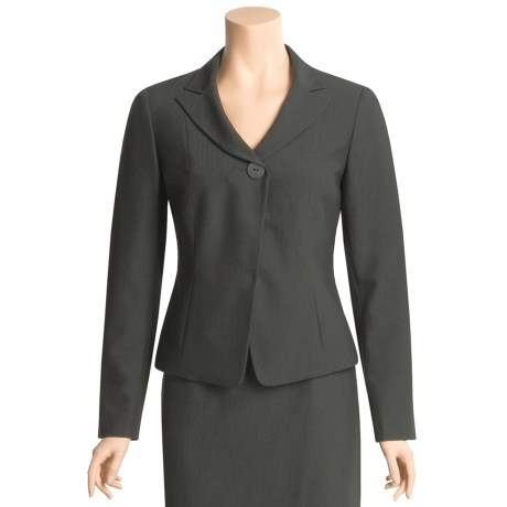 Atelier Shadow Stripe Suit Jacket - Pleated Back (For Women)