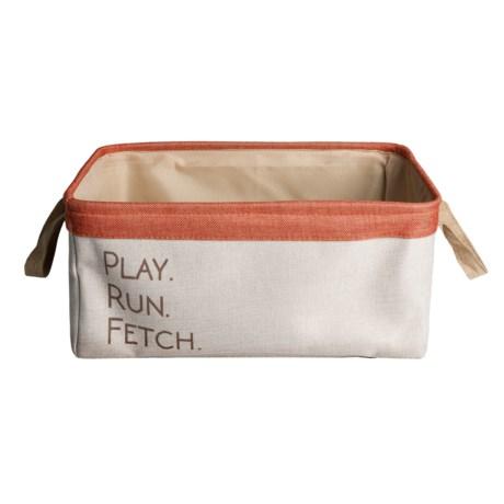 Winifred & Lily Home Play, Run, Fetch Dog Toy Bin