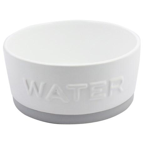 Azzure Ceramic Food Dog Bowl - Rubber Bottom