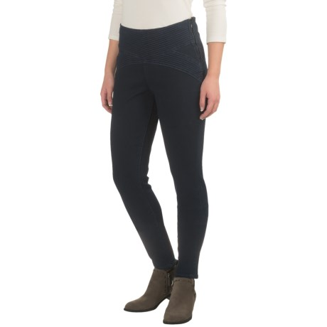 JAG Olive Side-Zip Skinny Jeggings (For Women)