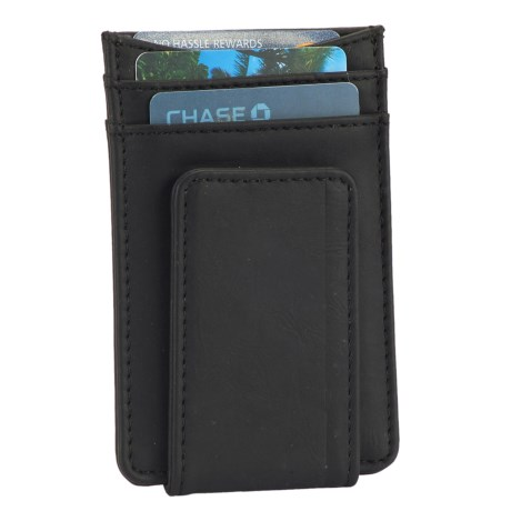 1 Voice Striker RFID-Blocking Card Holder and Magnetic Money Clip - Leather