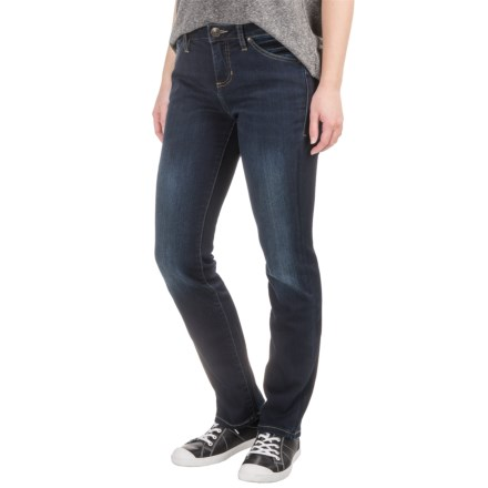 JAG Portia Platinum Jeans - Mid Rise, Straight Leg (For Women) in Dark Indigo - Closeouts