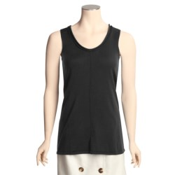 Kinross Cotton Knit Tank Top - Double-Roll Trim (For Women)