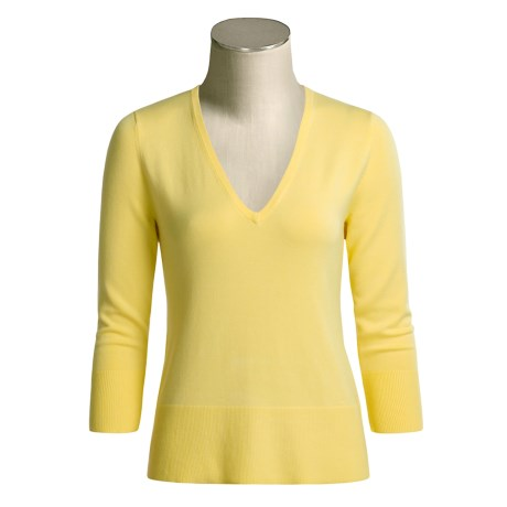 Katherine Barclay Knit Shirt - V-Neck, ¾ Sleeve (For Women)