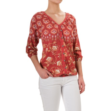 Aventura Clothing Menlo Peasant Top - Organic Cotton-Modal, 3/4 Sleeve (For Women)