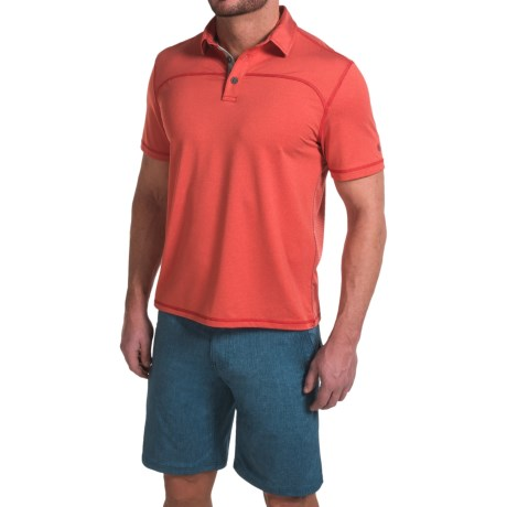 G.H. Bass & Co. Textured Two-Tone Polo Shirt - Short Sleeve (For Men)