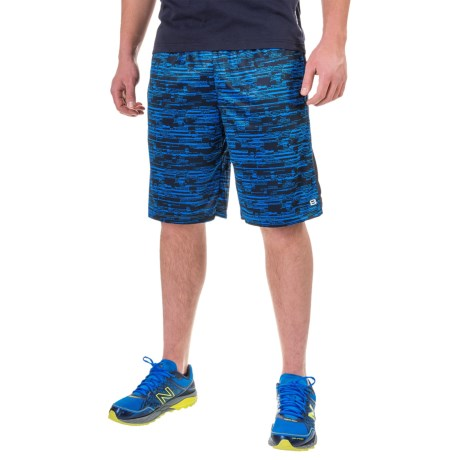 Layer 8 Printed Knit Training Shorts (For Men)