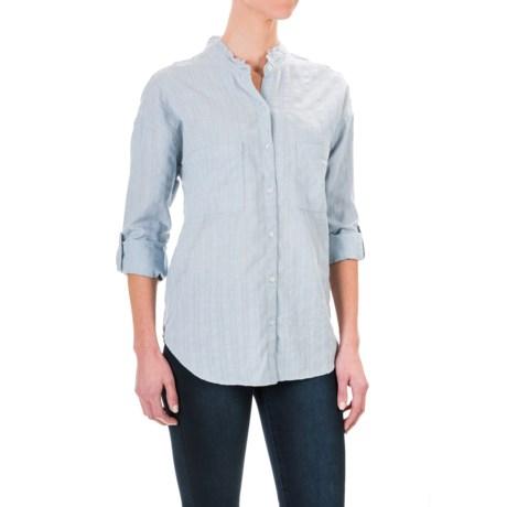 dylan Washed Workmen's Stripe Shirt - Long Sleeve (For Women)
