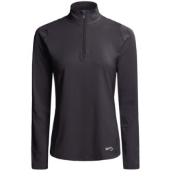 Saucony dryLETE® Thermal Sport Shirt - Zip Neck, Long Sleeve (For Women)