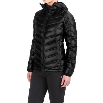 Mountain Hardwear Stretchdown™ Hooded Down Jacket - 750 Fill Power (For Women) in Black - Closeouts