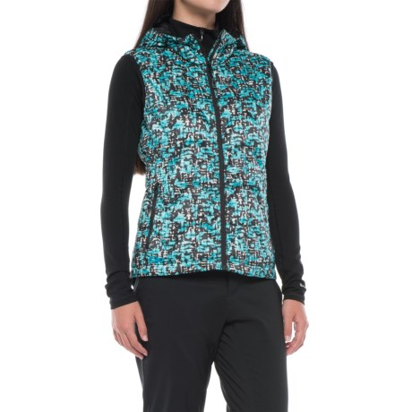Outdoor Research Aria Printed Down Vest - 650 Fill Power, Hooded (For Women)