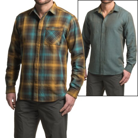 Mountain Hardwear Reversible Plaid Shirt - Snap Front, Long Sleeve (For Men)
