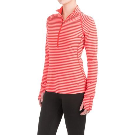 Mountain Hardwear Butterlicious Stripe Pullover Shirt - UPF 50+, Zip Neck, Long Sleeve (For Women)