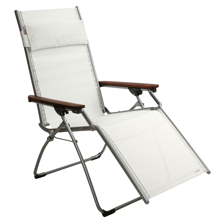 Lafuma Hybrid Folding Recliner Chair Wood Arm 2012X Save 40%