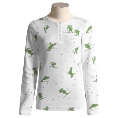 Hatley Thermal Henley Shirt - Long Sleeve (For Women)