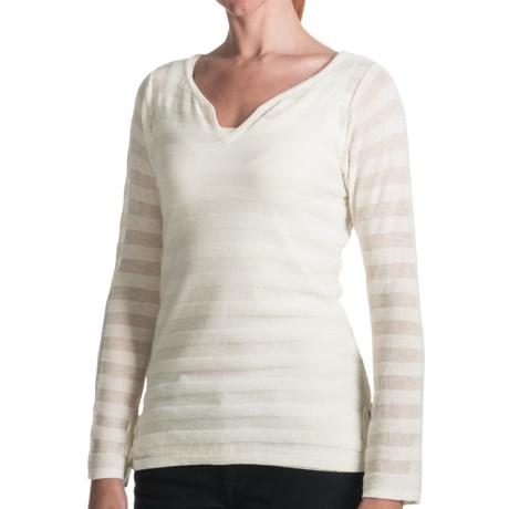 SoyBu Tonal Stripe Shirt - Long Sleeve (For Women)
