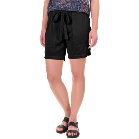 dylan Soft-Drape Shorts - Removable Tie Belt (For Women)