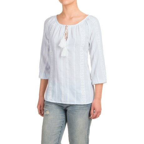 dylan Indio Pony Peasant Top - 3/4 Sleeve (For Women)