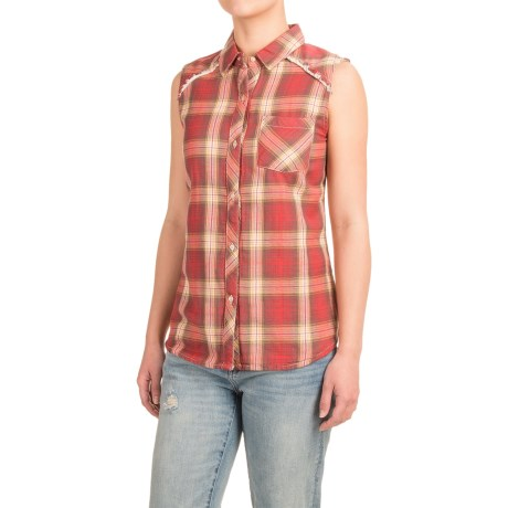 dylan Two-Layer Flannel Shirt - Fully Lined, Sleeveless (For Women)