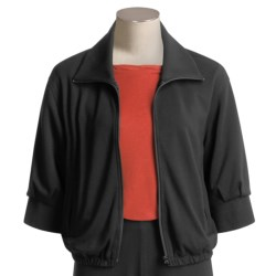 Joan Vass Bomber Jacket - Zip Front (For Women)