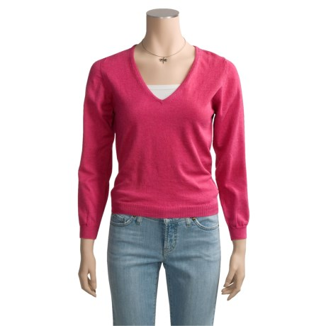 Barbour Lightweight Sweater - Cotton, V-Neck (For Women)