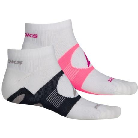 Brooks Training Day Tab Socks - 2-Pack, Quarter Crew (For Men and Women)