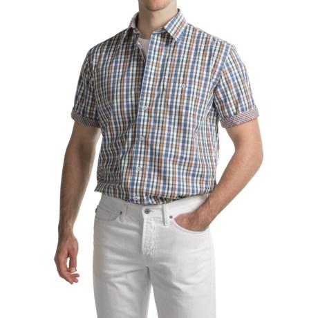 Viyella No-Iron Plaid Sport Shirt - Cotton, Short Sleeve (For Men)