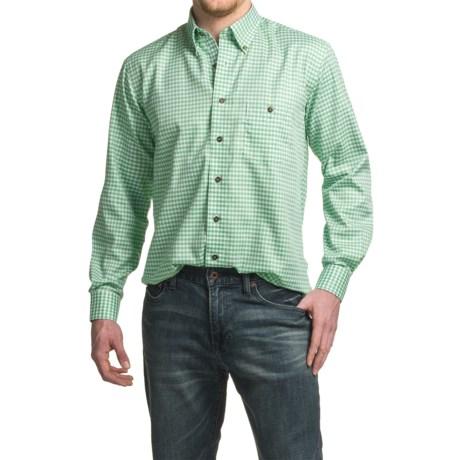 Viyella No-Iron Mini-Check Sport Shirt - Cotton, Long Sleeve (For Men)
