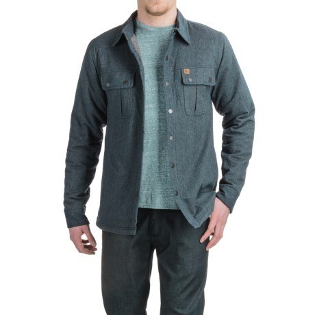 HippyTree Modesto Flannel Shirt Jacket - Sherpa Lined (For Men)