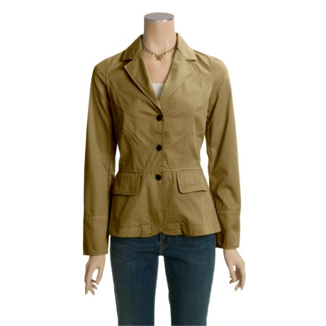 Barbour Washed Peplum Blazer (For Women)