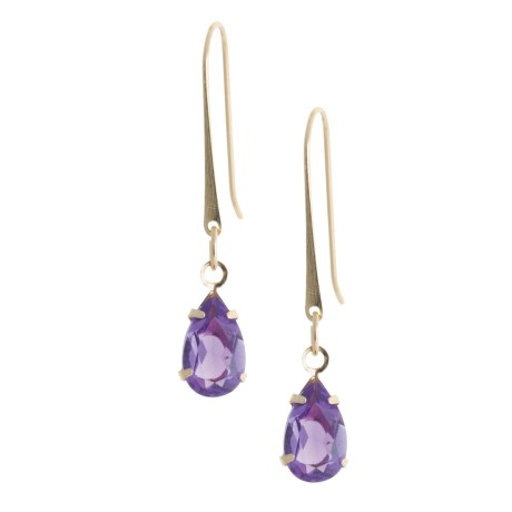 Stanley Creations 14K Gold Earrings - Semi-Precious Pear-Cut Stones