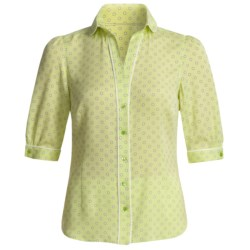Audrey Talbott Silk Georgette Dot Shirt - V-Neck, Elbow Sleeve (For Women)