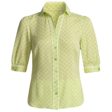 Audrey Talbott Silk Georgette Dot Shirt - V-Neck, Elbow Sleeve (For Women)
