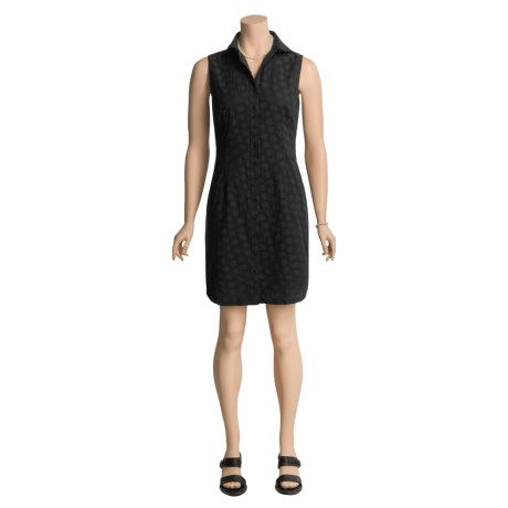 Audrey Talbott Dot Jacquard Shirtdress - Cotton, Sleeveless (For Women)