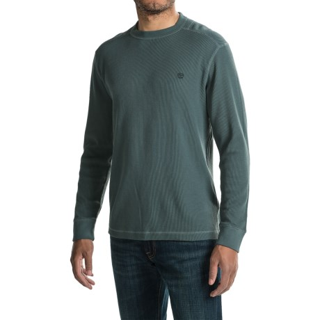 Timberland Wharf River Waffle Shirt - Crew Neck, Long Sleeve (For Men)