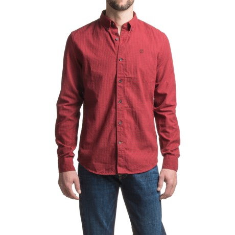 Timberland Brushed Twill Gingham Shirt - Slim Fit, Long Sleeve (For Men)