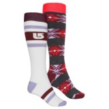 Burton Weekend Snowboard Socks - 2-Pack, Over the Calf (For Women)