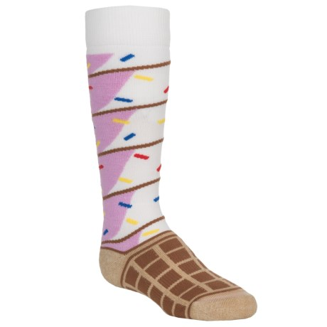 Burton Party Snowboard Socks - Merino Wool Blend, Over the Calf (For Little and Big Kids)