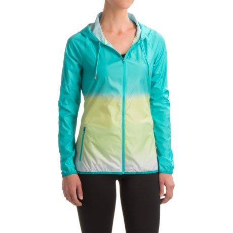 Layer 8 Dip-Dyed Wind Jacket - Hooded (For Women)
